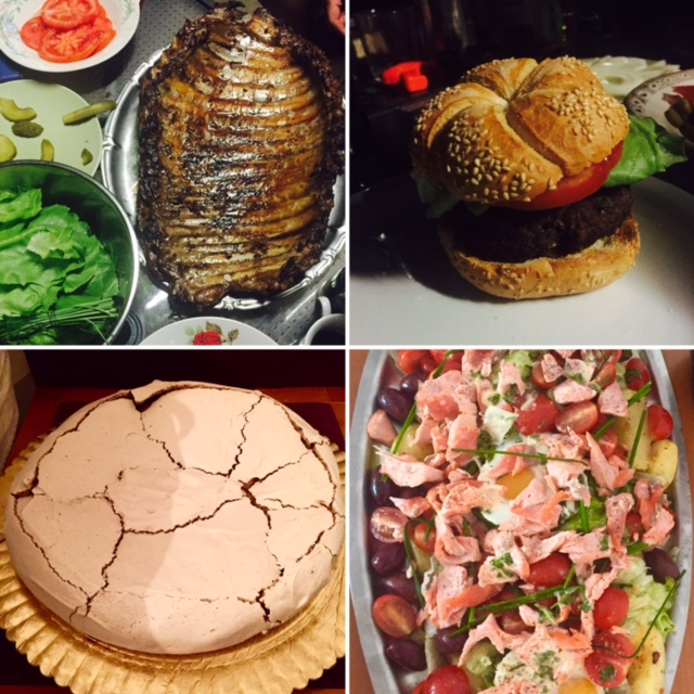 Coaste, Hamburger, Salata Nicoise si Pavlova homemade
